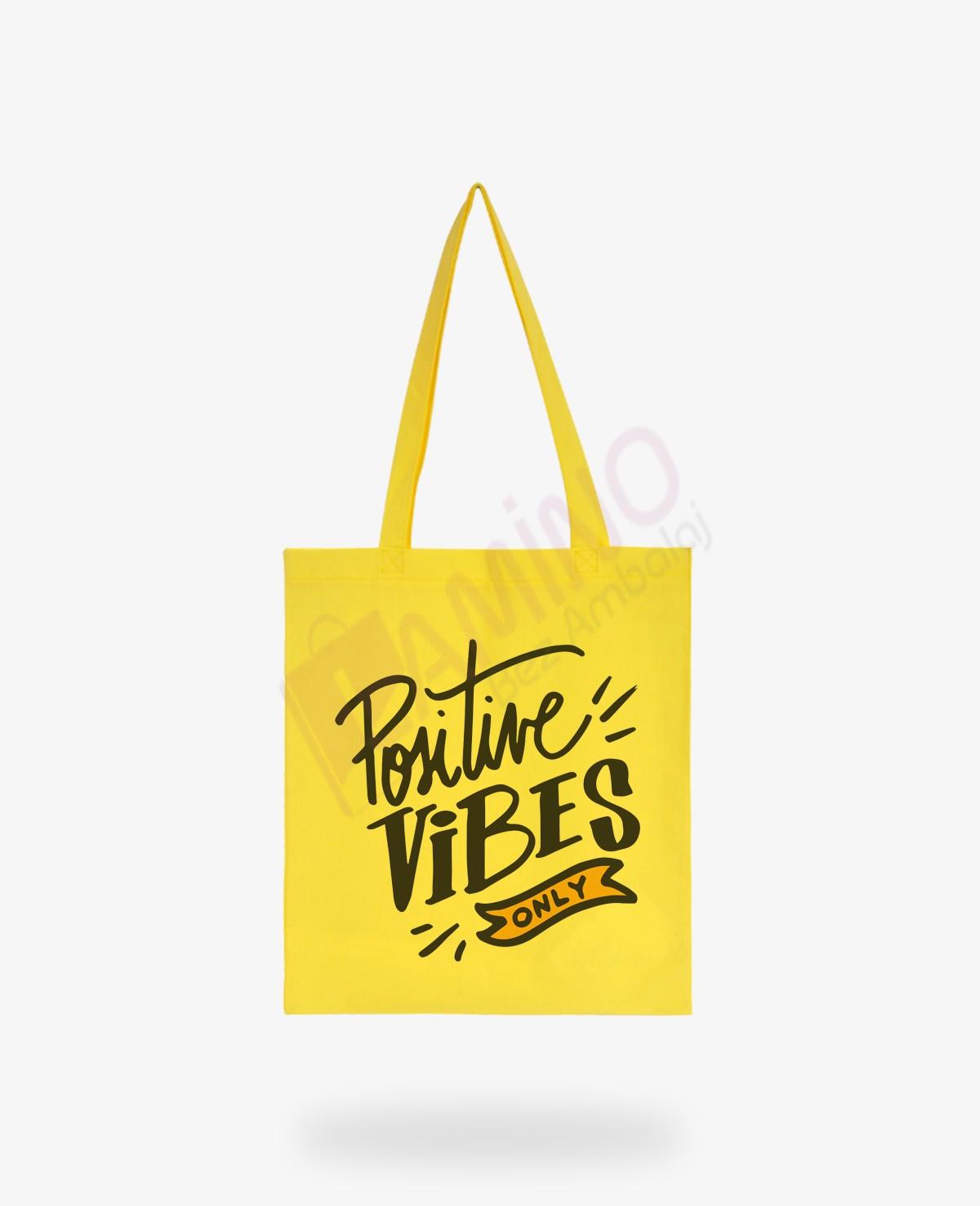 Positive Vibes Renkli Hambez Çanta