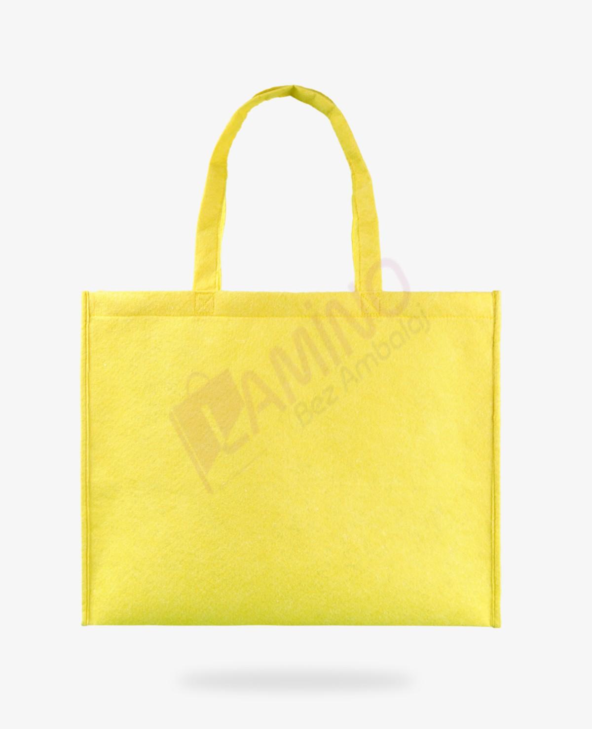 Sarı Körüklü Keçe Çanta